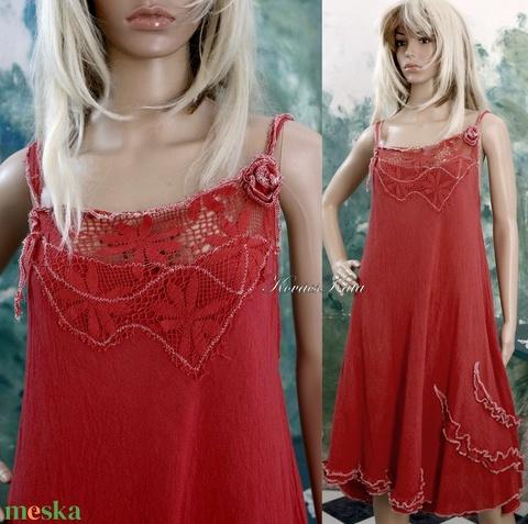LÁNGVIRÁG - romantikus design ruha (brokat) - Meska.hu