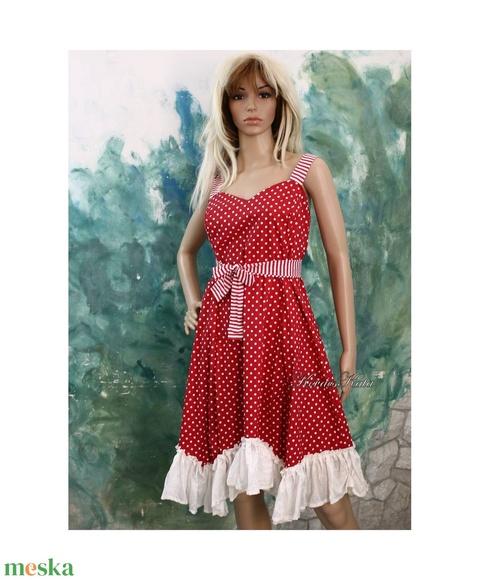 MICHELLE - design-ruha, pöttyös menyecske ruha (brokat) - Meska.hu