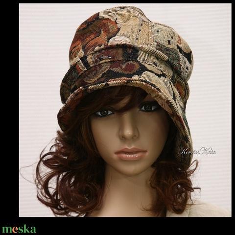 MACIS - gobelin flapper kalap (brokat) - Meska.hu