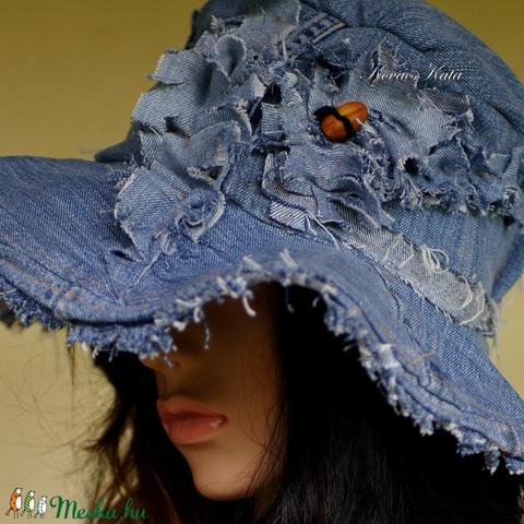 BELINDA - romantikus design kalap - bohém farmer-kalap   (brokat) - Meska.hu