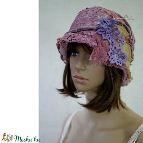ARTSY FLAPPER - patchwork design kalap (brokat) - Meska.hu