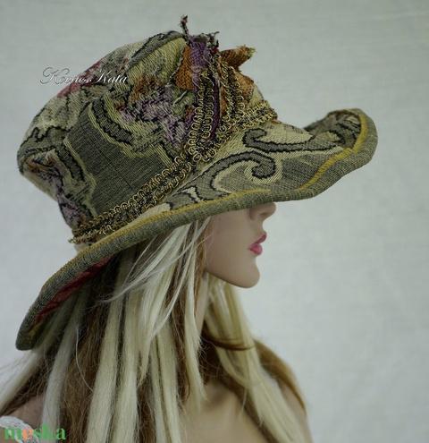 ANTIK-GOBELIN - vintage style design kalap (brokat) - Meska.hu