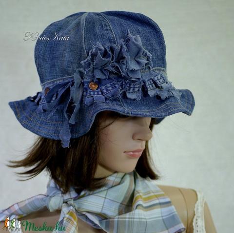 BUCKET -  bohém farmer kalap (brokat) - Meska.hu