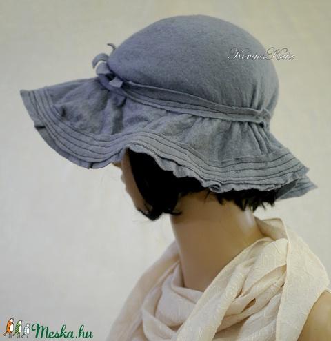 BOHÉM FILCKALAP - romantikus design-kalap  (brokat) - Meska.hu
