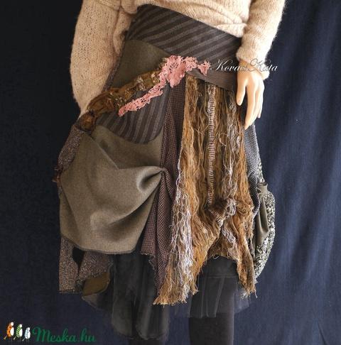 BOSZI-SZOKNYA - artsy patchwork szoknya  (brokat) - Meska.hu