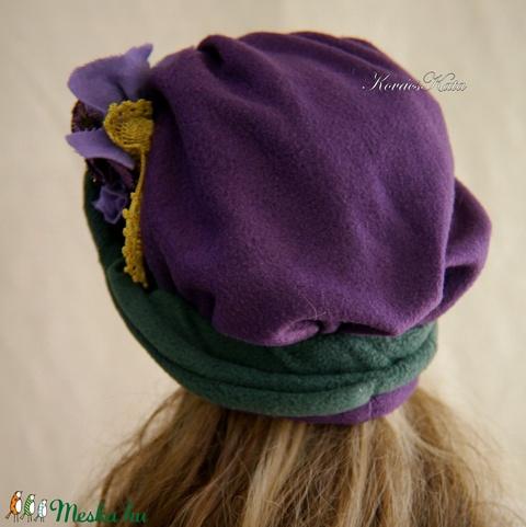 LÉDA/ lila - design-polár kalap (brokat) - Meska.hu