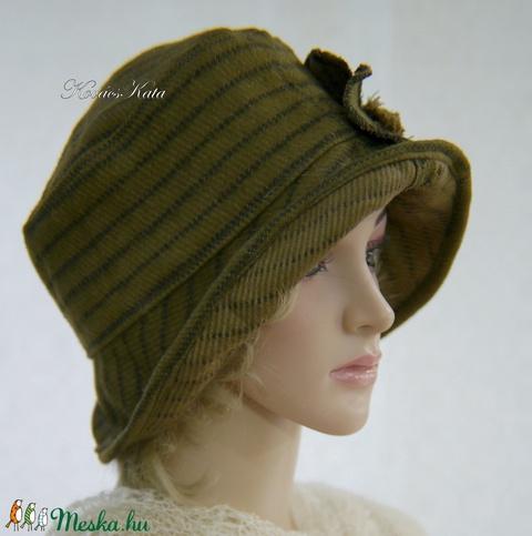 FRIDA CLOCHE XL - gyapjú design kalap / tabak (brokat) - Meska.hu