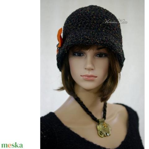 EDINA - horgolt flapper kalap  (brokat) - Meska.hu