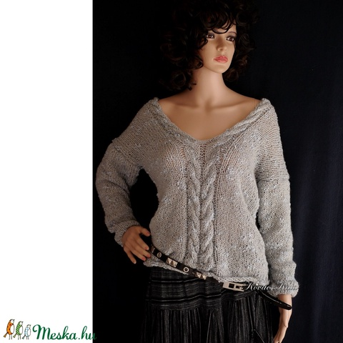 LIZA / palakék - exkluzív kézzel kötött  pulóver - Meska.hu