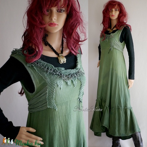 FIONNA ruha - romantikus artsy design hosszú-ruha - Meska.hu