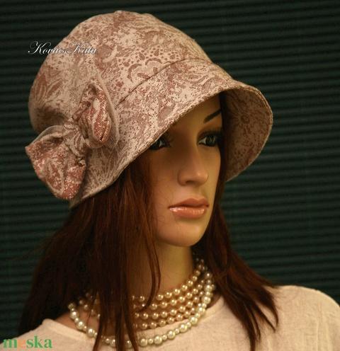 MARIE cloche - lenvászon flapper kalap - Meska.hu