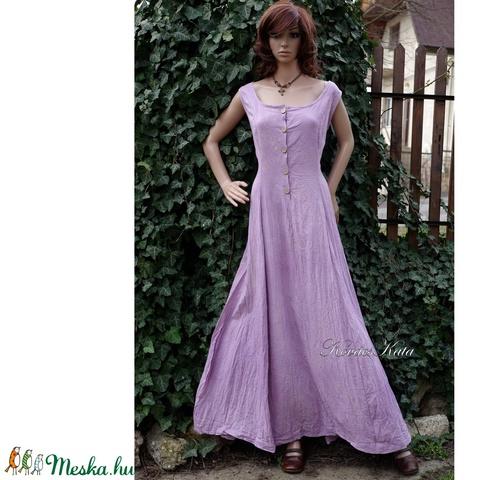 STEFÁNIA - romantikus design ruha / levendula - Meska.hu