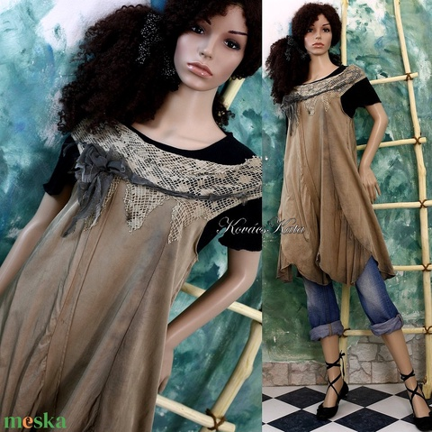 ILA - artsy bohém design ruha - Meska.hu