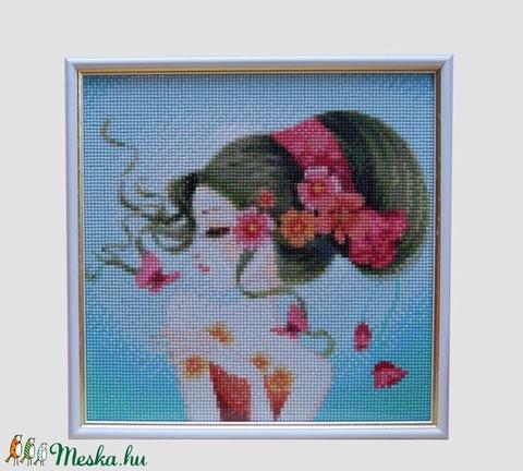 fiatal lány gyémánt falikép (bubantne) - Meska.hu