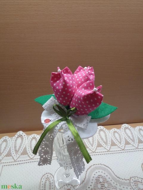 Textil tulipáncsokor - otthon & lakás - dekoráció - csokor & virágdísz - Meska.hu
