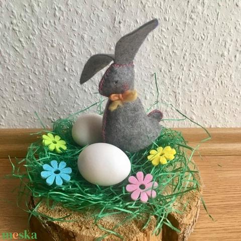 Húsvéti nyuszi filcből 3 színben- fehér-szürke-barna - Meska.hu