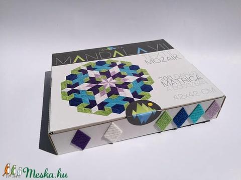 Textil mozaik matrica készlet- MANDALA VII. (carawonga) - Meska.hu