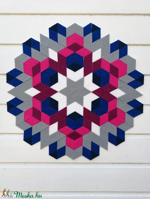 Textil mozaik matrica készlet -MANDALA II. (carawonga) - Meska.hu