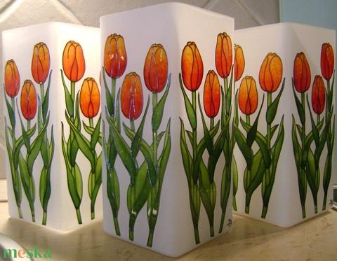 Ballagási ajándék, búcsúajándék tulipános lámpa felirattal (cecameca) - Meska.hu