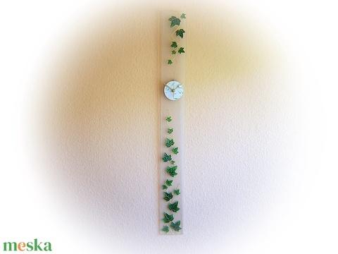 Borostyán -  üveg óra - design falióra (cecameca) - Meska.hu