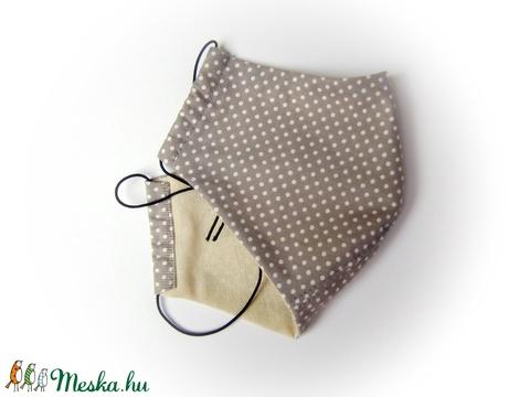 Férfi szájmaszk betét elhelyezés lehetőségével,  arcmaszk,  szürke,  mosható egészségügyi maszk (cecameca) - Meska.hu