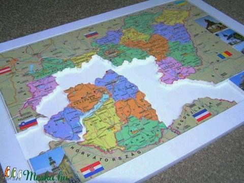 magyarország térkép puzzle Magyarország megyéi puzzle, rendelhető (Cheekymonkey)   Meska.hu magyarország térkép puzzle