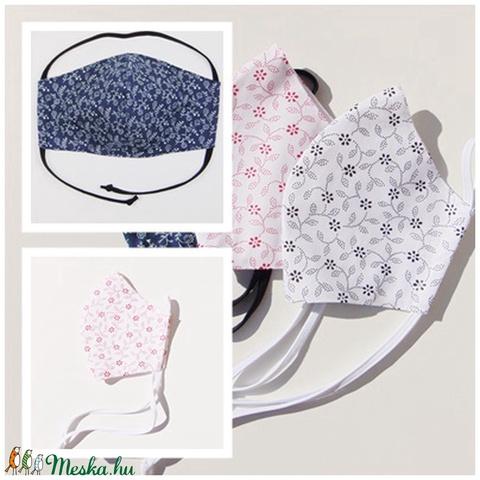 (3 db/cs) Kis virág mintás szájmaszk csomag, textil szájmaszk, többször használható szájmaszk (ChristieHomemade) - Meska.hu