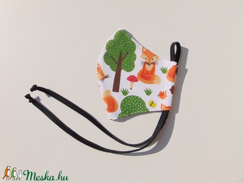 Gyermek- maszk / Rókás gyermek szájmaszk, textil szájmaszk, többször használható szájmaszk (ChristieHomemade) - Meska.hu