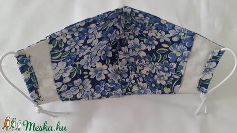 Szájmaszk dróttal 3 rétegű textilből (cifraarny) - Meska.hu
