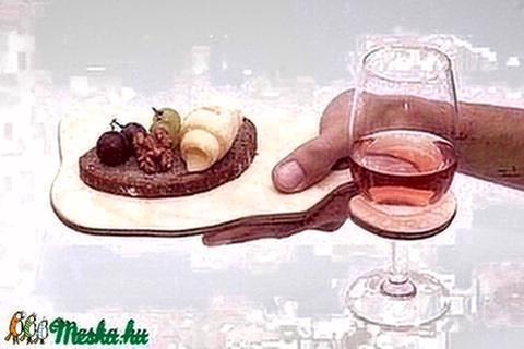 Borospohár tartó tálca/deszka - Meska.hu