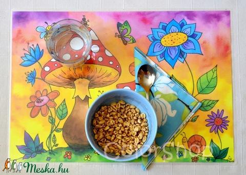 Nagy tányéralátét (A3) - Gombák (colorshop) - Meska.hu