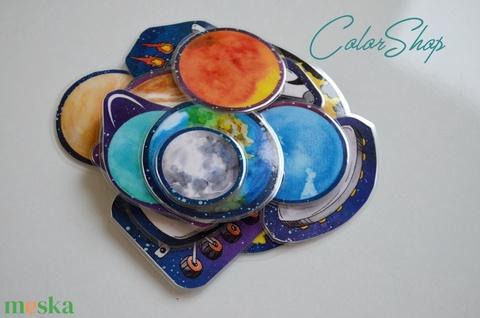 Bolygók, világűr hűtőmágnes készlet (14 db-os) - Meska.hu