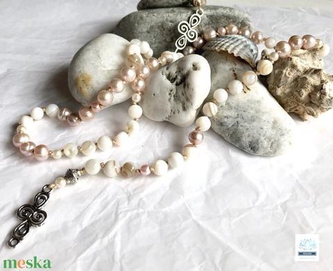 Vintage női gyöngy nyaklánc  - Meska.hu