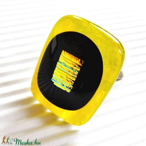 Fátyolos kisdarázs üveg gyűrű, üvegékszer - Meska.hu