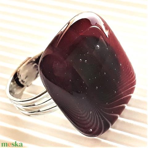 Szerelmem rejtett csillagrendszere üveg gyűrű, üvegékszer - ékszer - gyűrű - statement gyűrű - Meska.hu