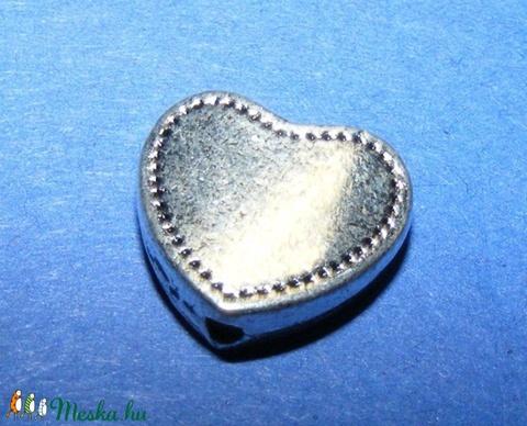 Köztes (691. minta/1 db) - szív  - gyöngy, ékszerkellék - Meska.hu