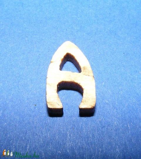 Rusztikus fa betű (20x15 mm) - A - Meska.hu