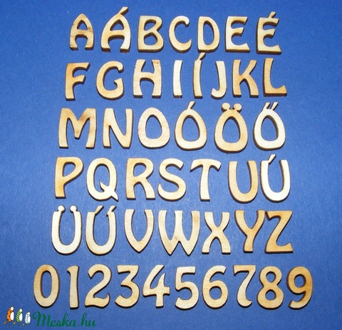 Rusztikus fa betű (20x15 mm) - F - Meska.hu