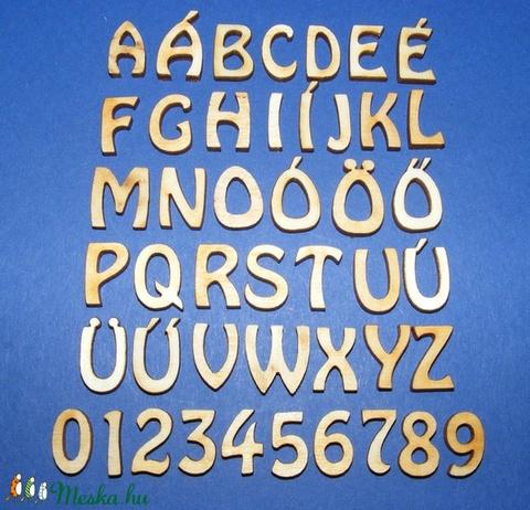 Rusztikus fa betű (20x15 mm) - I - Meska.hu