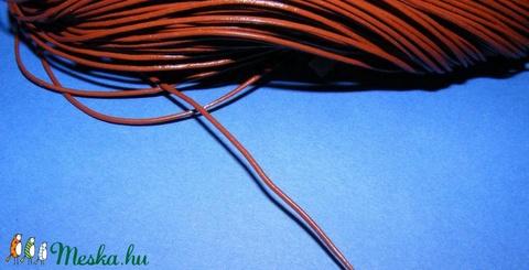 Hasított bőrszíj - 1 mm (3. minta/1 m) - csokoládé - Meska.hu