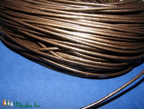 Hasított bőrszíj - 2 mm (4. minta/1 m) - metál bronz - Meska.hu