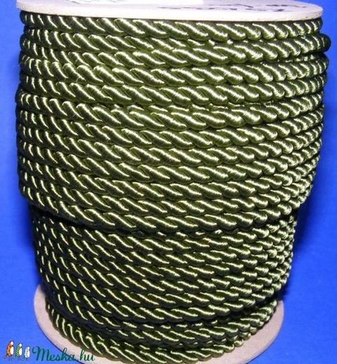 Sodrott zsinór - 5 mm (ZS103S/1 m) - olajzöld - Meska.hu