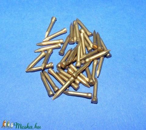 Szög-2 (10x1,5 mm/20 db) - bognár, arany - csat, karika, zár - Meska.hu