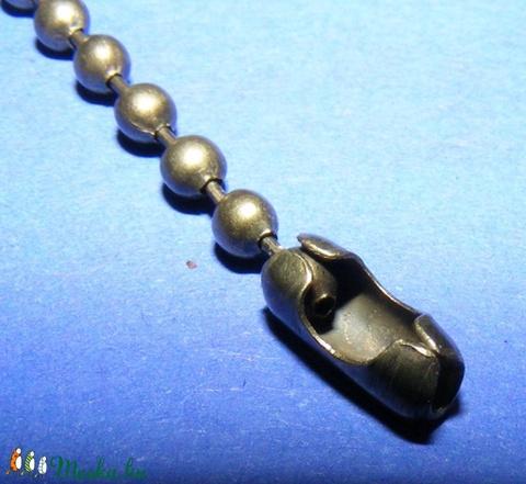 Golyóslánc kapocs (338/A minta/1 db) - 3-3,2 mm - Meska.hu