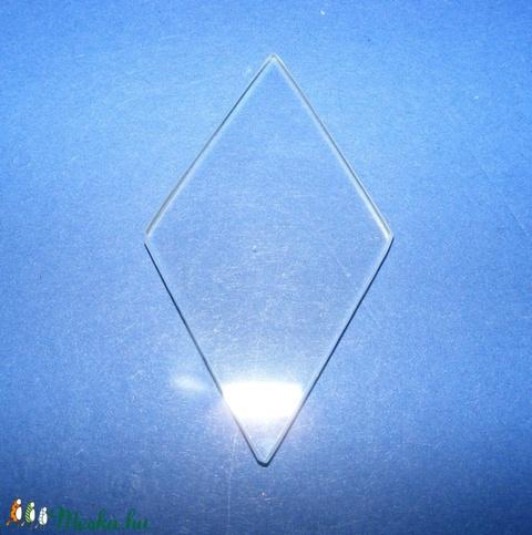 Üveglap-2 (55x30 mm/1 db) - rombusz - Meska.hu