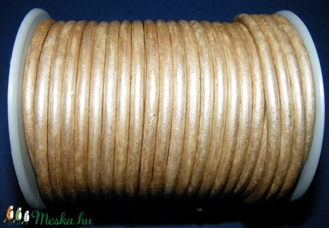 Hasított bőrszíj - 5 mm (21. minta/1 m) - metál krém (AKCIÓS) - Meska.hu