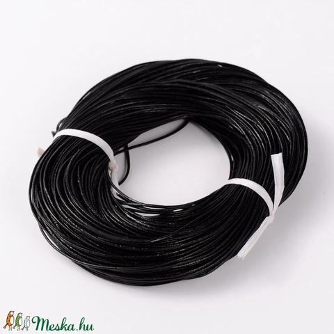 Hasított bőrszíj - 1,5 mm (1/A minta/1 m) - fényes fekete - Meska.hu