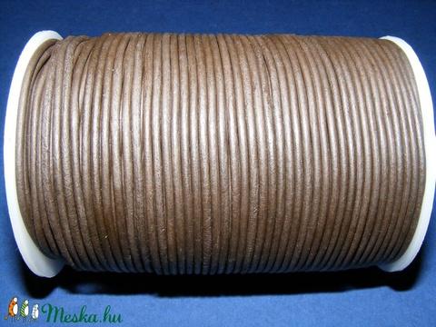 Hasított bőrszíj - 2 mm (19. minta/1 m) -  sötétbarna - Meska.hu