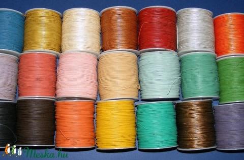 Hasított bőrszíj - 1,5 mm (6. minta/1 m) - narancs (metál) (csimbo) - Meska.hu