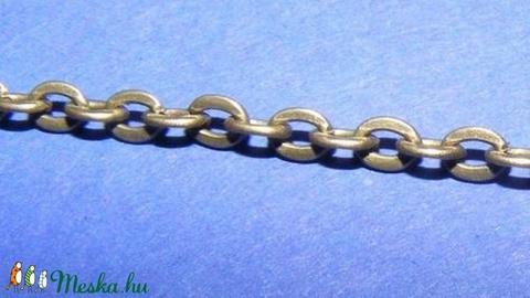 Bronz színű lánc (30. minta/1 m) - 3x2x0,6 mm - Meska.hu